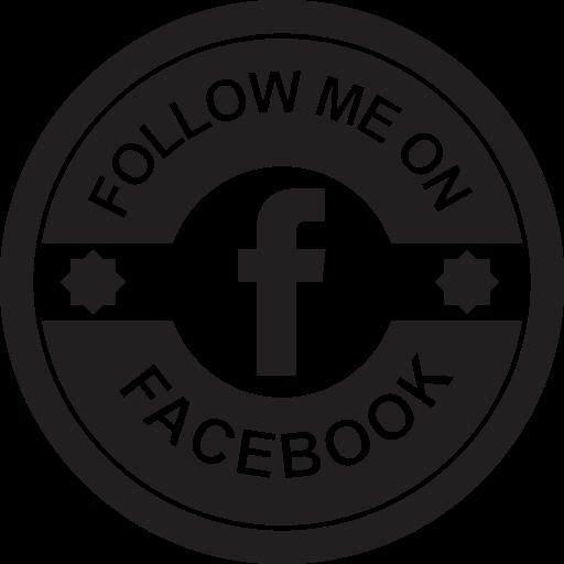 Facebook Social Retro Circular Badge Png Icon