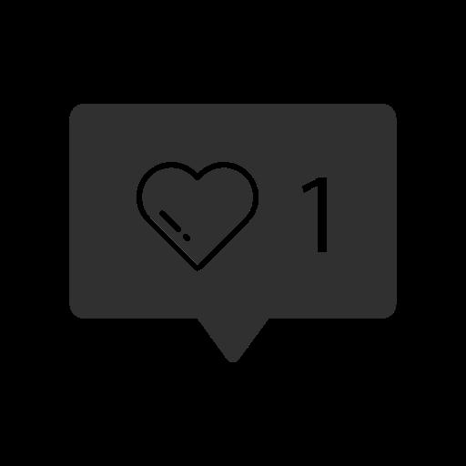 Heart, Like, Instagram, One Like Icon