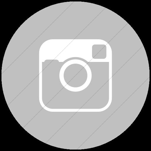 Flat Circle White On Silver Raphael Instagram Icon