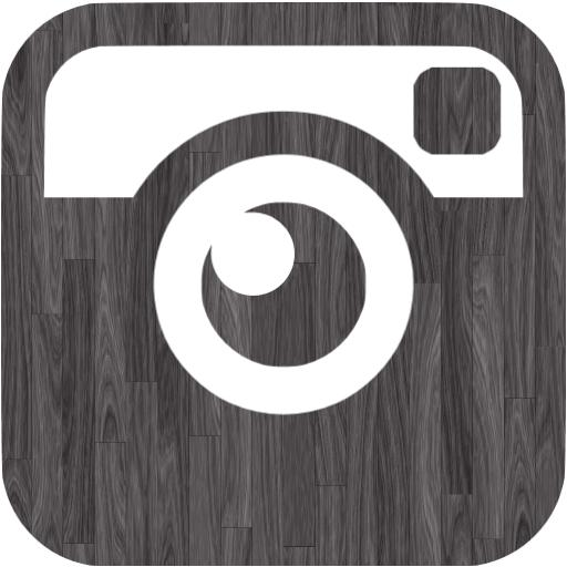 Black Wood Instagram Icon