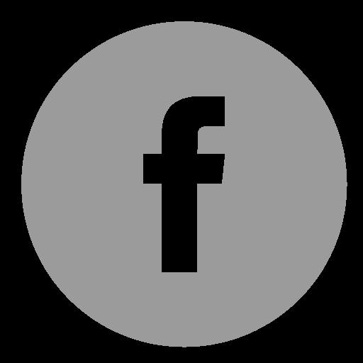 Facebook Black And Grey Logo Png Images