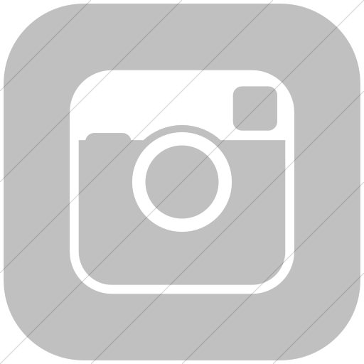 Flat Rounded Square White On Silver Raphael Instagram Icon
