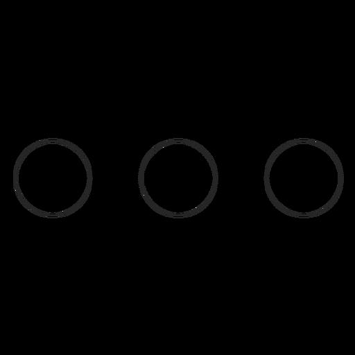 Instagram Three Dots Line Icon