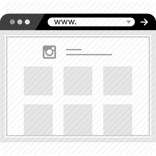Browser, Instagram, Web, Icon