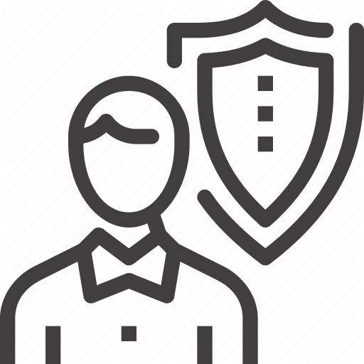 Insurance, Job, Person, Protection, Shield, Staff, Thinking Icon