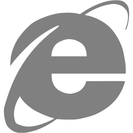 Gray Internet Explorer Icon