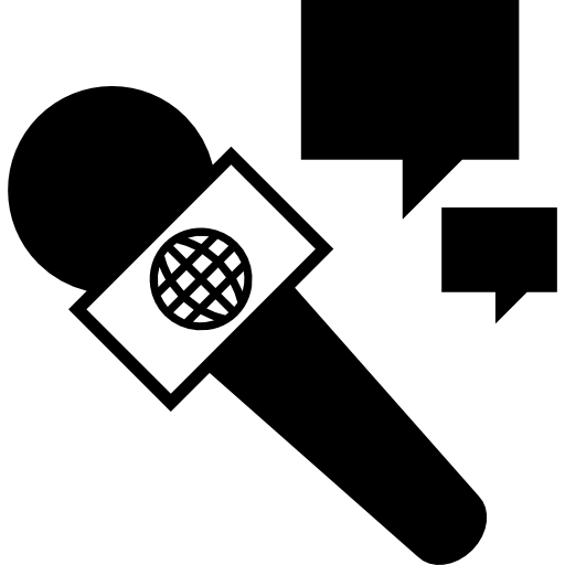 Interview With Microphone Icons Free Download
