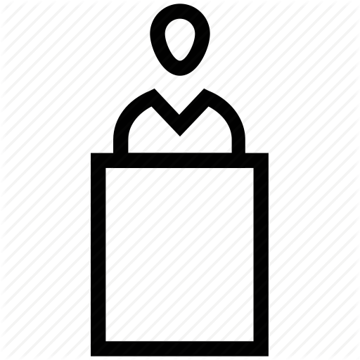 Businessman, Idea, Introduction, Presentation, Speech Icon