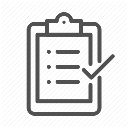 Check, Clipboard, File, Inventory, Outline Icon