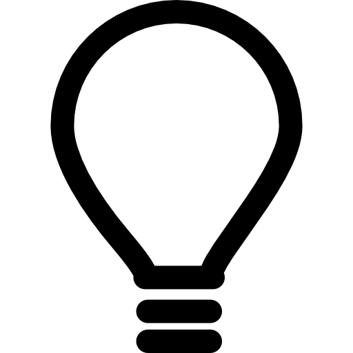 Light Bulb, Idea, Ios Interface Symbol Icons Free Download