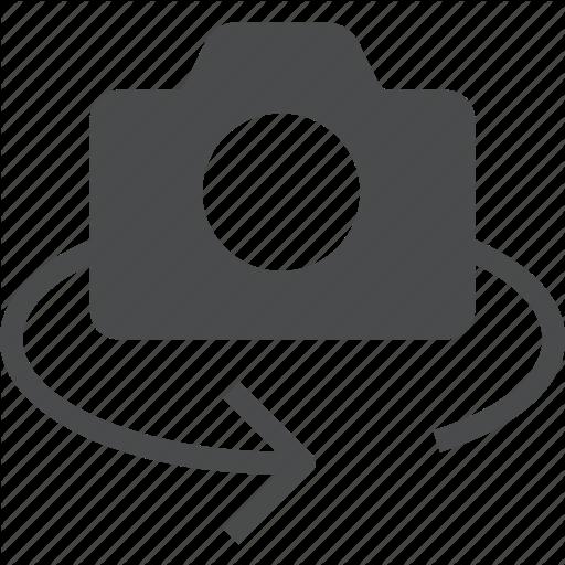 Camera, Lens, Photo, Reverse, Rotate Icon