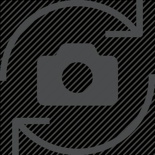 Camera, Rotate Icon
