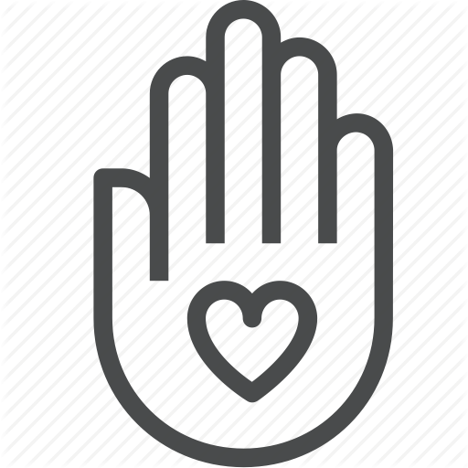 Altruism, Donate, Give, Hand, Heart, Help, Volunteer Icon