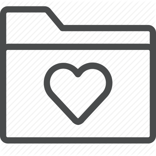 Favorite, Files, Folder, Heart, Save Icon