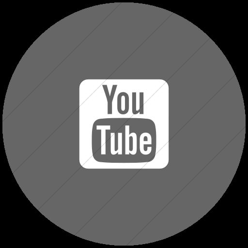 Flat Circle White On Gray Foundation Social Youtube Icon