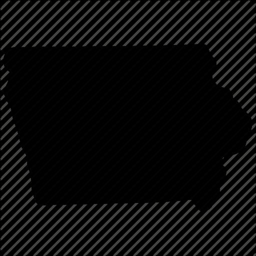 Iowa, Iowa Map, Iowa State, Map Icon
