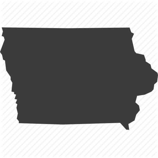 America, Iowa, Location, Map, State, Usa Icon