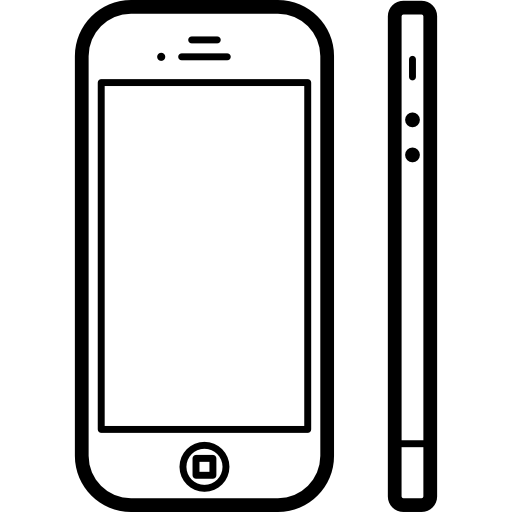 Apple Iphone From Front And Side View Icons Free Download