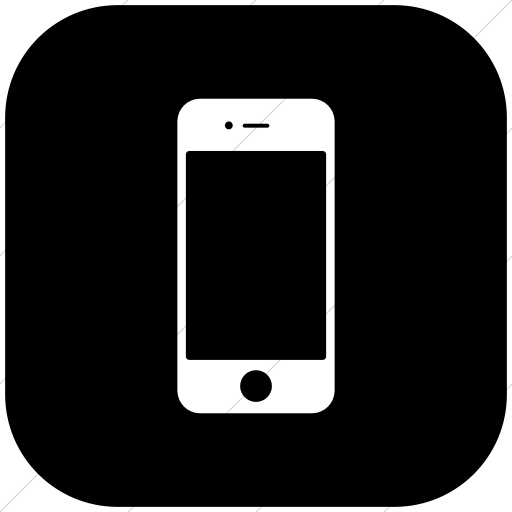 Flat Rounded Square White On Black Raphael Iphone Icon