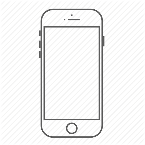 Apple, Call, Iphone, Outlined, Phone, Smartphone Icon