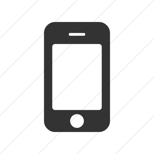 Simple Dark Gray Bootstrap Font Awesome Mobile Phone Icon