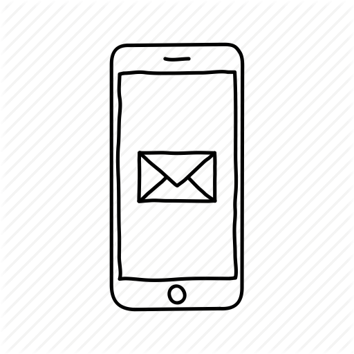 Devices, Email, Handdrawn, Iphone, Mobile, Screens, Text Message Icon