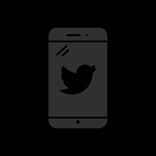 Phone, Twitter, Iphone, Bird Icon