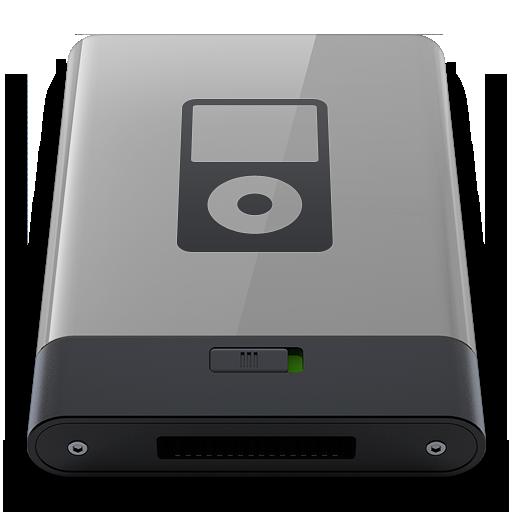 Grey Ipod B Icon Hyper Realistic Hd Iconset