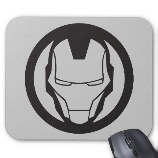 Iron Man Icon Mouse Pad Logos Man Icon, Icons