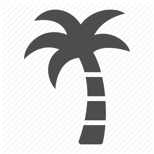 Exotic, Island, Palm Tree, Tree, Tropical, Vacation Icon