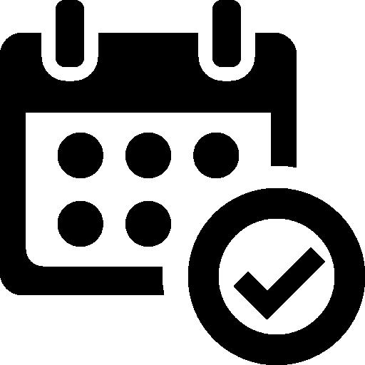 Verified Calendar Interface Symbol Icons Free Download