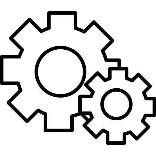 Cogwheels Couple Of Two Different Sizes Icons Free Download