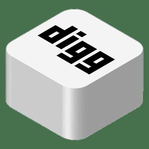 Digg Isometric Icon