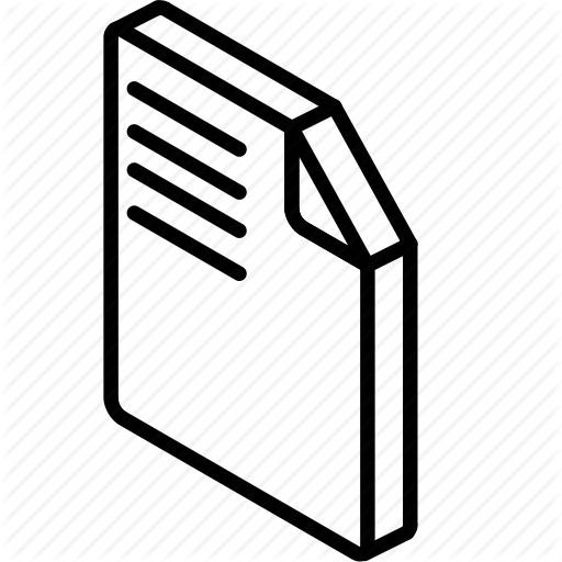 Essentials, File, Iso, Isometric Icon