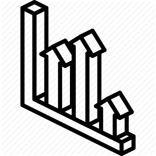 Arrow, Chart, Graph, Iso, Isometric Icon
