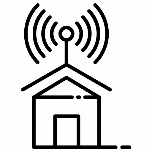 Home, Internet, Isp, Provider, Service, Signals Icon