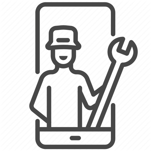 It, Mobile, Repair, Specialist, Support, Technical, Technician Icon