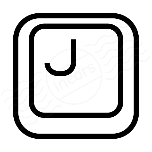 Iconexperience I Collection Keyboard Key J Icon