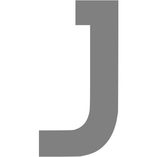 Gray Letter J Icon
