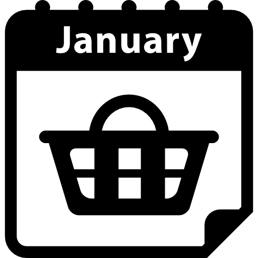January Shopping Day Reminder Daily Calendar