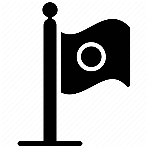Flag, Fluttering Flag, Japan Flag, Japan Symbol, Japanese Logo Icon