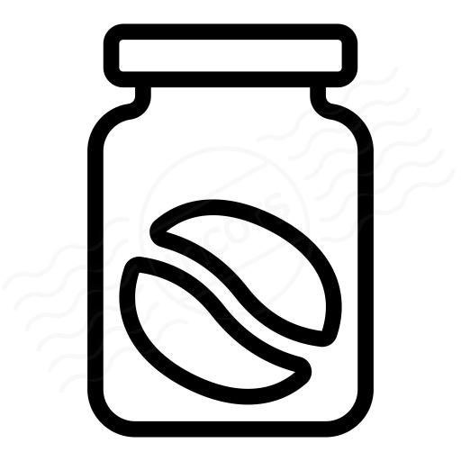 Iconexperience I Collection Jar Coffee Bean Icon