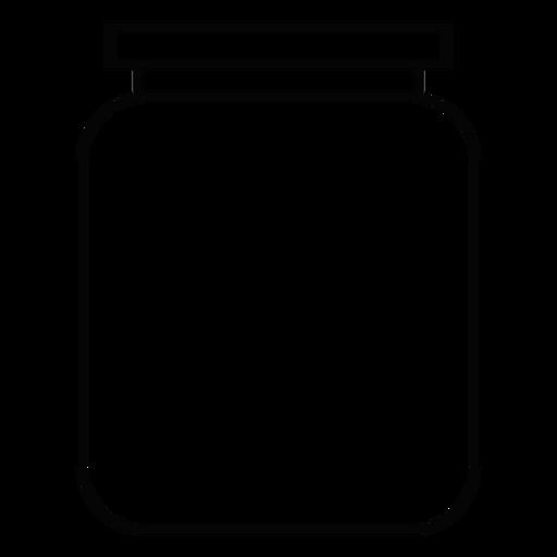 Canning Jar Stroke Icon