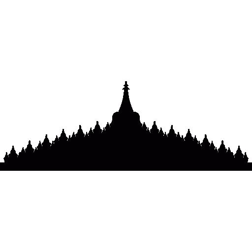 Borobudur In Java, Indonesia Icons Free Download