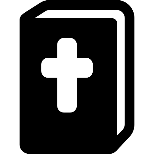 Bible With Cross In Cover Icons Free Download