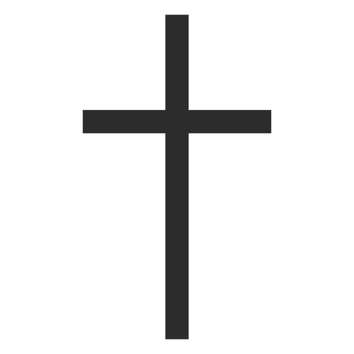 Thin Christian Cross Icon