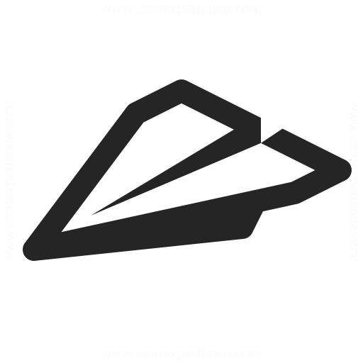 Paper Jet Icon Iconexperience