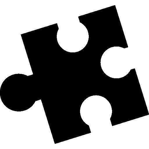 Puzzle Black Piece Shape Icons Free Download