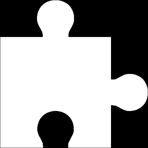 White Puzzle Piece Icon