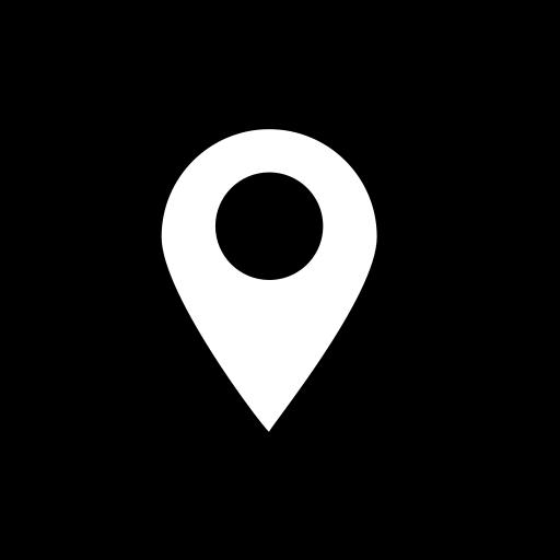Social Media Location Glyph Icon